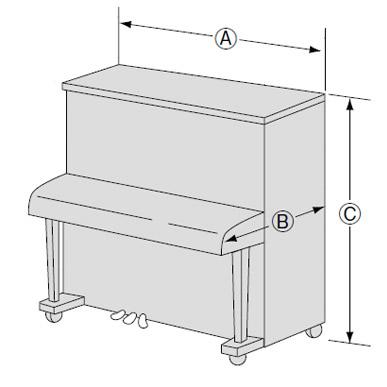 アップライトピアノのサイズ